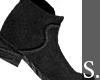 S. Velvet Boots Black