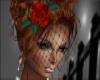 Red Rose/Net Fascinator