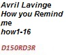 How you remind Me Avril