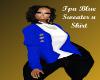Blue Tpa Sweater/ white