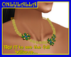 Malachite Flowers neckl