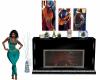 Nia Jazz Art Fireplace