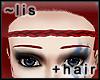 Forehead braid: cherry