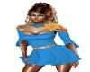 Blue party mini dress