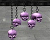 PURPLE HANGING SKULLS