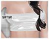 White PVC Bandeau