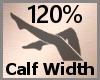 Calf Width 120% F A