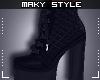 M:Black short boots