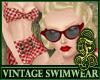 Vintage Swimwear Red