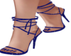 Strappy heels blue
