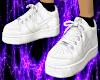 white w/ black socks M