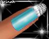 !f Sparkling Aqua Nails