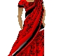 red and black sari