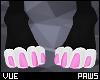 V e Pink Paws F