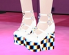 P! Glitch Chess Shoes