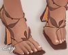 Brown Petal Heels