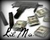 Mac-10 Gun with money