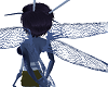 Blue Wasp Wings