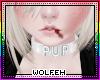 ♡ wht pup collar