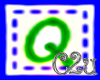 C2u letter Q sticker