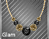 Gold Black Necklace