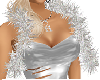 Scarf silver Anja