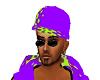 Green and purple dub cap