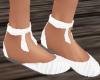 TF* White Flat Shoes