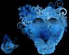 Blue heart & Butterfly