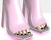 Pink Boot heels