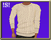 !S! Cream Sweater M