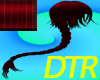 ~DTR~Crimson Long Braid