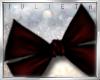 J! Dark red hair pin bow