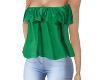 green frill top