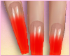 Neon Red Ombre Nails