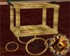 Victorian Brass Lab Cart