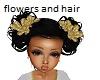 kids gold black hair