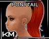 +KM+ Pony Tail Blk/Fire
