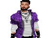 Casual Purple Plaid Shir