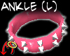 DblStud Ankle Lf Pink