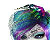 Rainbow Skele Hand Veil
