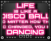 !D! 80s Disco Neon Sign