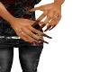 A's Blk & Orange Nails