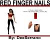 RED FINGER NAILS