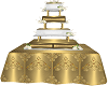 GOLD WHITE WEDDING CAKE