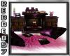 Purple Gothic Fireplace