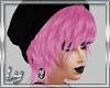 [Ly]Beanie black/pink