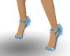 metalic blue shoes