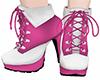 Pink/White Highheel Boot