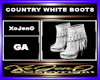 COUNTRY WHITE BOOTS